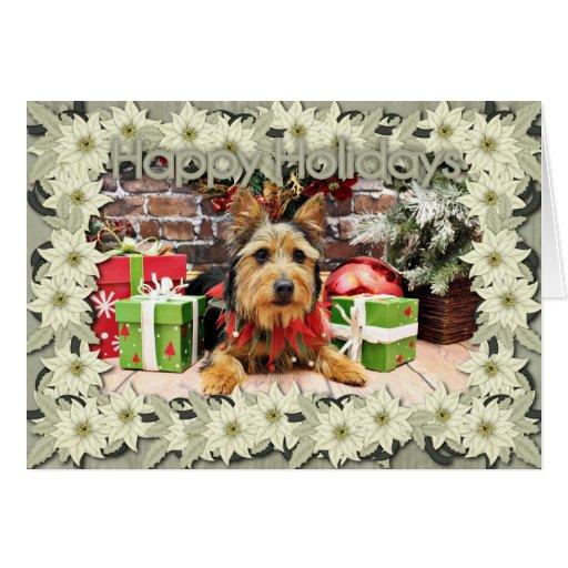 Christmas - Australian Terrier - Leo Cards
