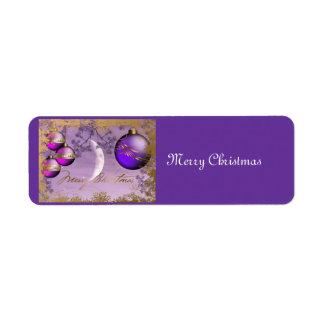 Christmas Avery Label Return Address Label