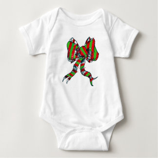 Christmas Baby Bodysuit with Bows -Baby Body suit