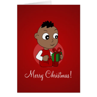 Christmas baby cartoon card