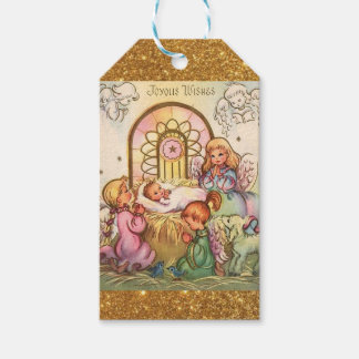 Christmas  Baby Jesus in Manger Angels Gift Tags