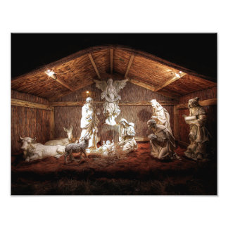 Christmas Baby Jesus Nativity Manger Scene Photo Art