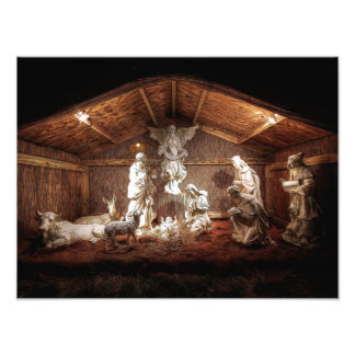 Christmas Baby Jesus Nativity Manger Scene Photo