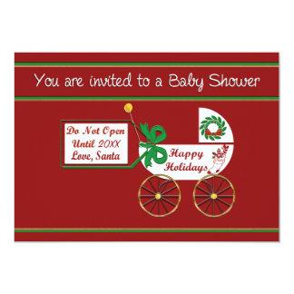 Christmas baby shower invitation Happy Holidays