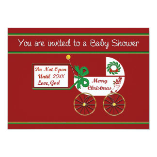 Christmas baby shower invitation Spiritual