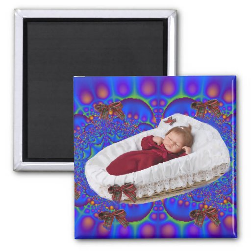 Christmas Baby Time Magnet