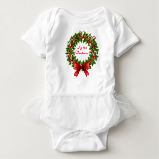 Christmas Baby Tutu Bodysuit/My First Christmas Baby Bodysuit