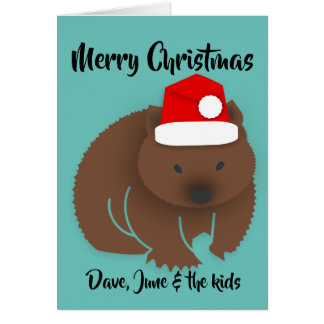 Christmas Baby Wombat Card
