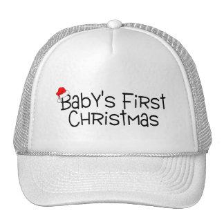 Christmas Babys First Christmas Mesh Hats