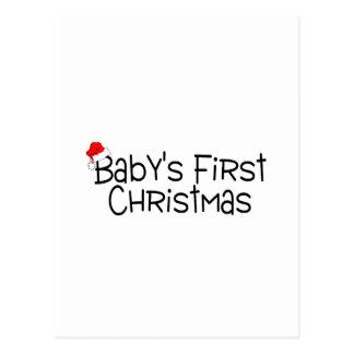 Christmas Babys First Christmas Postcard