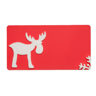 Christmas Background Shipping Label
