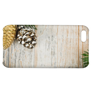Christmas background with ornaments on branch iPhone 5C covers