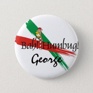 Christmas Bah! Humbug! 6 Cm Round Badge
