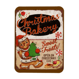 Christmas Bakery Gingerbread Kitchen Magnet