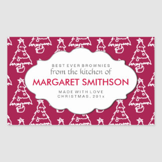 Christmas Baking or Product Labels Sticker