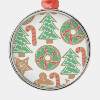 Christmas Baking Print Metal Ornament