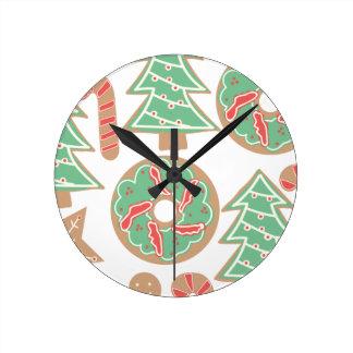 Christmas Baking Print Round Clock