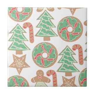 Christmas Baking Print Small Square Tile