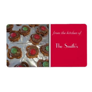 Christmas Baking Shipping Label