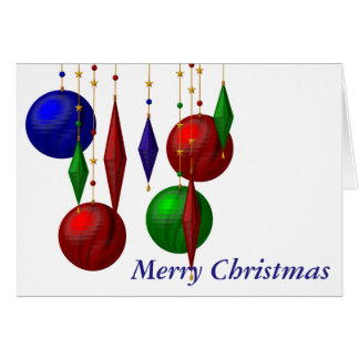 christmas ball on white background card