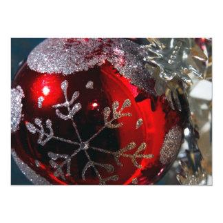 Christmas Ball Ornament 14 Cm X 19 Cm Invitation Card