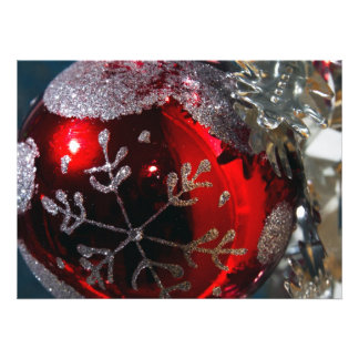Christmas Ball Ornament Personalized Invitations