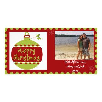Christmas Ball Photo Card