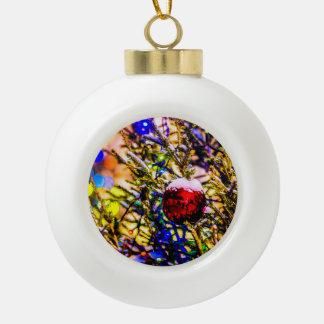 Christmas Ball Red Ceramic Ball Decoration