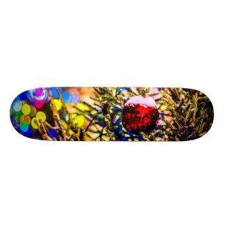 Christmas Ball Red Skateboard