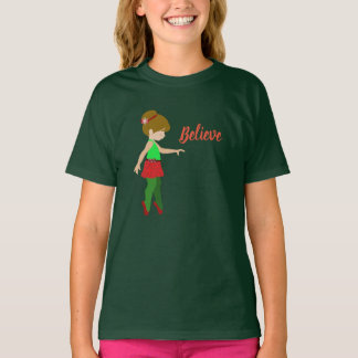 Christmas Ballerina Believe Shirt