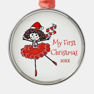 Christmas Ballerina - My First Christmas Metal Ornament