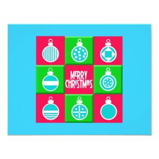 "Christmas Balls 4.25"" X 5.5"" Invitation Card"