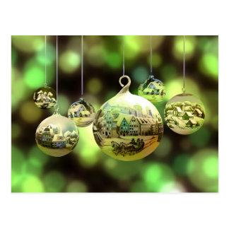 Christmas balls postcard