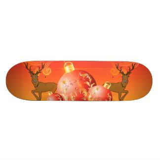 Christmas balls with decorative Damasks Skateboard Decks