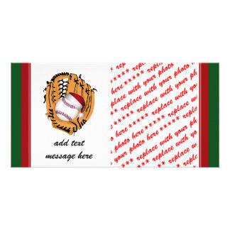 Christmas Baseball Mitt and Ball Card