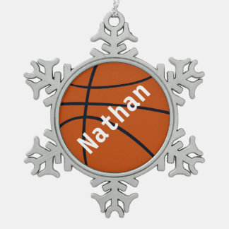 Christmas basketball add name ornament