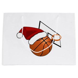 Christmas Basketball and Hoop Large Gift Bag