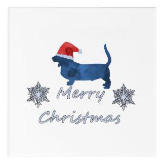 Christmas Basset hound Acrylic Wall Art