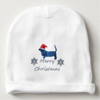 Christmas Basset hound Baby Beanie