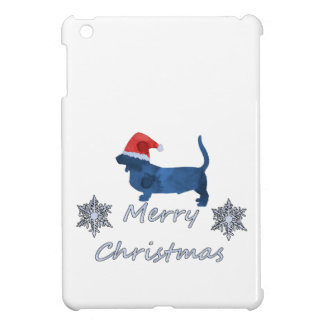 Christmas Basset hound Case For The iPad Mini