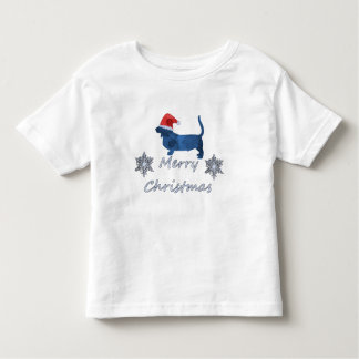Christmas Basset hound Toddler T-Shirt