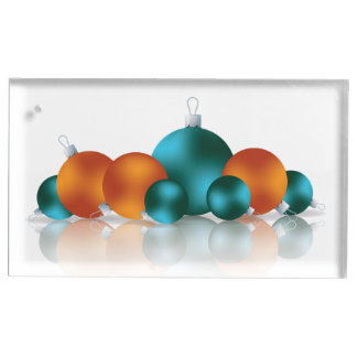 Christmas bauble place card holder