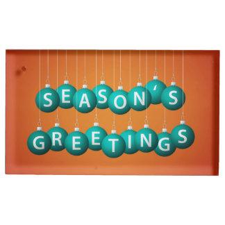 Christmas bauble table card holders