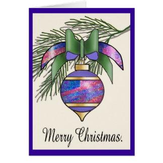 Christmas Baubles - 20 Card