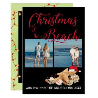 Christmas Beach Seashells Collection Photo Collage Card