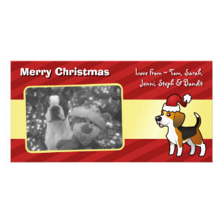 Christmas Beagle Personalized Photo Card