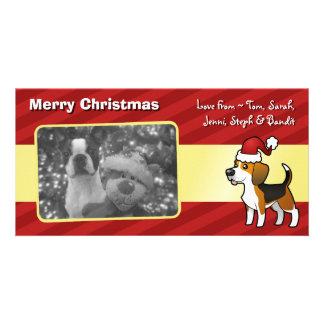 Christmas Beagle Custom Photo Card