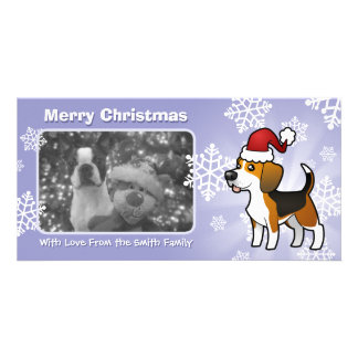 Christmas Beagle Picture Card