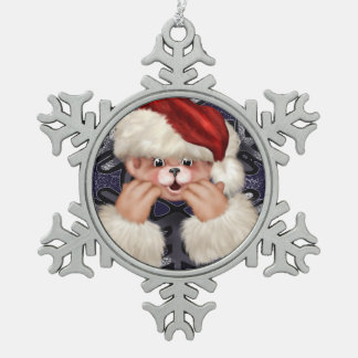 Christmas Bear 4 Snowflake Framed Ornament