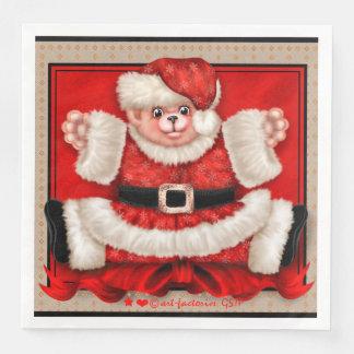 CHRISTMAS BEAR 5 Standard Dinner Napkins Paper Napkins